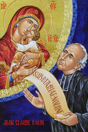 Icon of Mary and the founder of the Society of Mary, Fr Jean Claude Colin